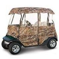 Deluxe 4 Sided Golf Car Cart Enclosure 2 Person Carts Camo
