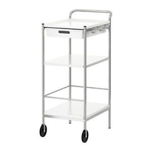 IKEA Bygel Kitchen Bathroom Cart Rolling Industrial Stainless Steel Wheels NIP