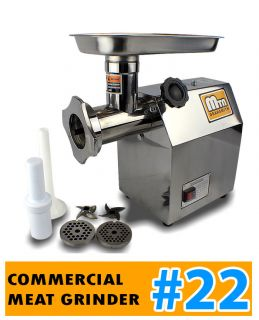 New Mtn Gearsmith Commercial Electric Meat Grinder Mincer Sausage Stuffer 22