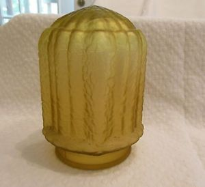 Vintage Art Deco Amber Glass Lamp Shade Globe for FRANKART Nuart Art Deco Lamps
