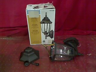 Hampton Bay 1 Light Outdoor Dusk to Dawn Wall Lantern