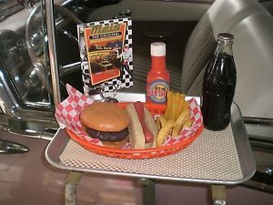 """ Car Hop Tray Fake Food"" ""Mels Drive in Menu"" Hot Ratrod Ford Chevy Trucks"