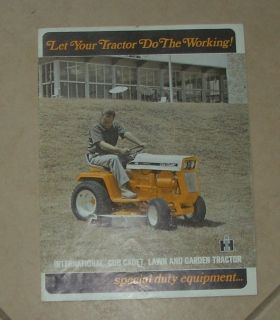 IH Cub Cadet Lawn Garden Tractor and Attachments