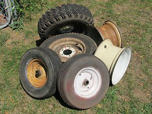 Lot of Wheel Horse Lawn Garden Tractor Tires and Rims