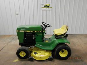 "John Deere 116 38"" Riding Mower Lawn Tractor"