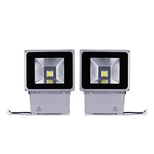 2pcs 100W Day White LED Flood Light Wall Pack Wash Lamp Outdoor Light IP65