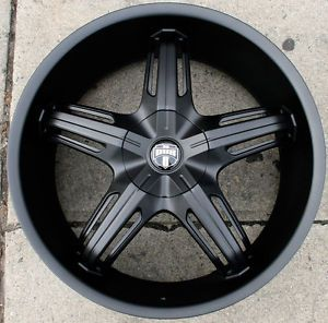 "Dub Drone 5 S156 22"" M Black Rims Wheels Charger V6 Base rwd 22 x 9 0 5H 15"