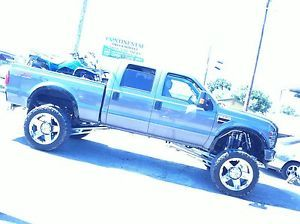 "24"" 8x170 Chrome Wheels Tires Ford F250 350 38x13 50x24 Nitto Trail Mud KMC XD"