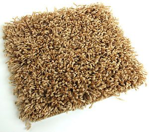 Gold Shaggy Indoor Area Rug Carpet Many Sizes Living Dining Room Kitchen