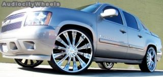 "24""Ben Wheels Rims Tahoe Yukon Escalade Chevy Almada"