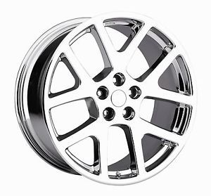 "22"" Viper SRT8 Chrome Wheels Rims Tires Fit Dodge Charger Magnum 300C Challenger"