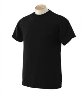 Brand New Plain Black Mens Cotton T Shirt Slim Fit Size Large
