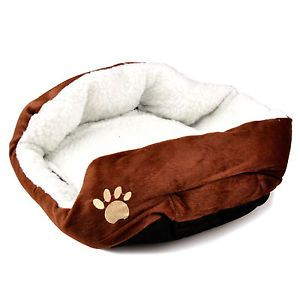 Soft Cat Dog House Cozy Puppy Mat Warm Nest Kitten Bed Plush Pad Fleece Mattress