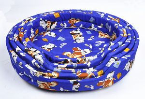 Soft Oval Pet Dog Cat Bed Cozy Cage Nest Travel Sleeping Bed Pad Mat 46 35 10cm