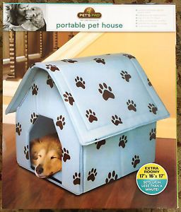 New Pets Pad Indoor Portable Blue Pet House Cat Small Dog Fold Pop Up Bed Pad