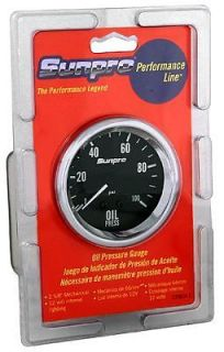 "100 PSI 2 5 8"" Sunpro Mechanical Oil Pressure Gauge Kit 28 1493"