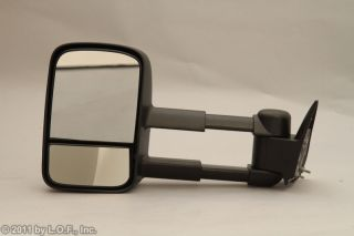 Chevy GMC Pickup Truck Telescoping Manual Towing Tow Side Mirrors Pair Set