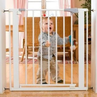 "Oggi SG 26 Pressure Mounted Metal Baby Infant Safety Gate Dog Pet 29"" Tall New"