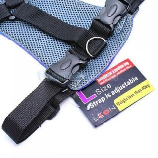 Blue Fit Car Vehicle Dog Pet Seat Safety Belt Harness L