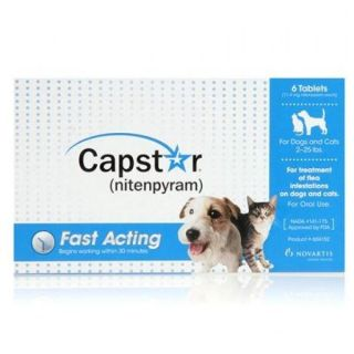 Capstar Oral Flea Treatment Dogs Cats Blue 2 25lbs 6 Tablets