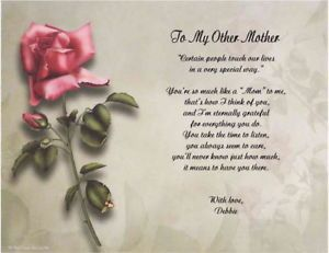 My Other Mother Personalized Poem Gift Print 5 Designs