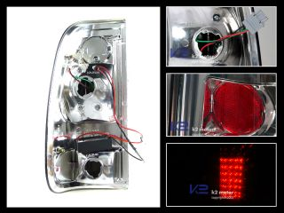1997 2003 Ford F150 F250 LED Tail Lights Brake Lamp Smoke Pair