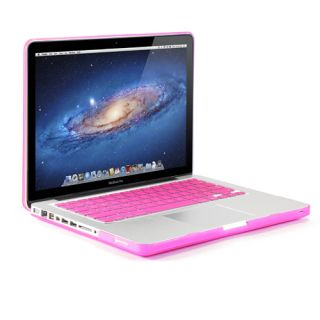 Rose Red Rubberized Case Screen Protector Keyboard Cover for MacBook Pro 13""