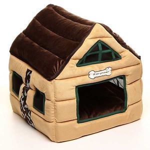 New Chocolate Cute Cozy Deluxe House Beds for Cat Small Dog Puppy Cats