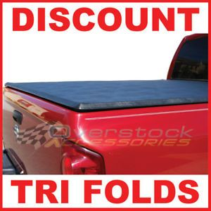 2002 2012 Dodge RAM 8ft Long Bed Tri Fold Tonneau Bed Cover 2011 Vinyl Truck Bed