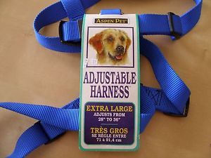 Dog Harness Adjustable Extra Large XL Blue