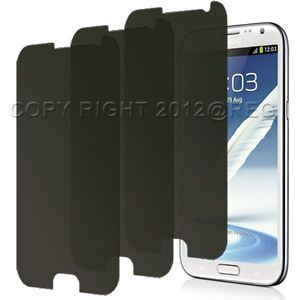 3 Privacy Anti Spy LCD Screen Protector Cover Guard for Samsung Galaxy Note II 2