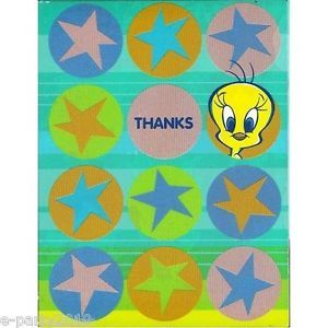 (8) TWEETY BIRD LOONEY TUNES THANK YOU CARDS ~ Birthday Party Supplies