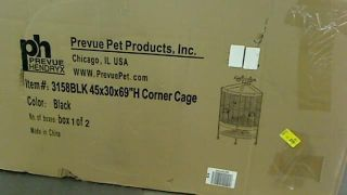 Box 1 of 2 Prevue Pet Products Large Dometop Bird Cage 3163BLK Black Hammertone