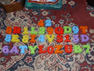 32 Magnetic Letters w Braille Plastic Magnetic Letters Numbers Thick Nice