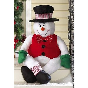 Stanley Snowman Stuffable Porch Greeter Decor Christmas Indoor Outdoor Brand New