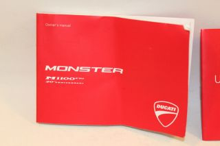Ducati Monster 1100 ABS EVO 20th 2013 Owners Manual Books Book
