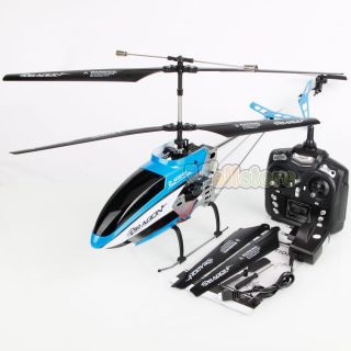 "New 33"" Huaxiang 8931 2 4G 3 Channel Remote Control Helicopter Toy Black Blue"
