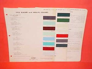1955 Kaiser Manhattan Willys Jeep CJ 3B 5 Station Wagon Pickup Truck Paint Chips