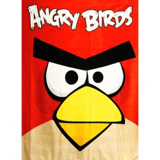 "Rovio Angry Birds Soft Warm Micro Fleece Throw Sleeping Blanket 50"" x 60"""
