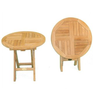 Indoor Outdoor Wood Furniture Teak Round Folding Table