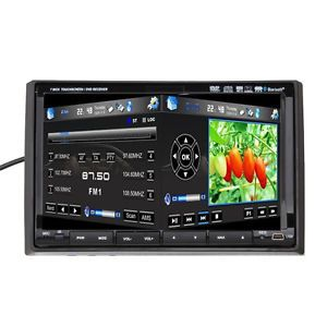 "2 DIN 7"" HD Touch Screen Car Stereo DVD Player GPS 3D Menu Pip BT iPod TV SD Map"