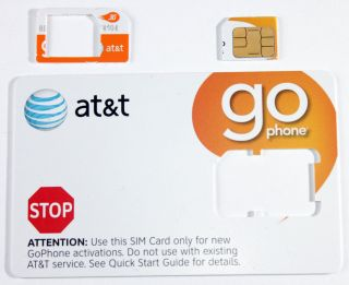 At T Prepaid Go Phone 3G Micro Sim Card Ready Activate SKU 72287 iPhone 4 4S