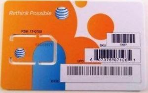 Brand New at T Wireless 3G 4G LTE Sim Card Postpaid Prepaid SKU 73057