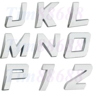 10 Piece Car Auto 3D Emblem Badge Sticker Chrome Letters Number New Style