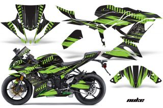 AMR Racing Graphic Kit Kawasaki ZX6 R 636 Ninja Street Bike Decals 13 14 Nuke GR