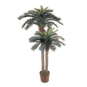 New 6' 4' Large Realistic Silk Sago Artificial Fake Palm Tree Plant