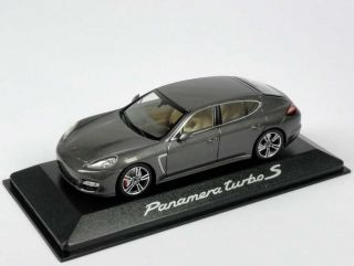 1 43 Porsche Panamera Turbo s Carbongrau Grey Dealer Edition