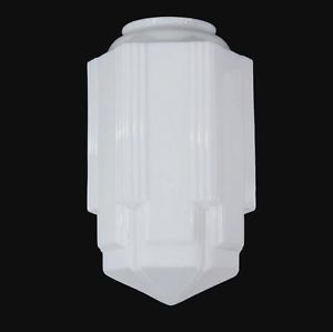 Art Deco Lighting Glass Light Shade Lamp 6 x 16 5 Skyscraper Pendant New