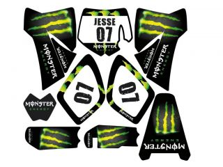 KTM SX 65 XC Rockstar Energy Graphic Kit Custom Template Decal Stickers 02 08