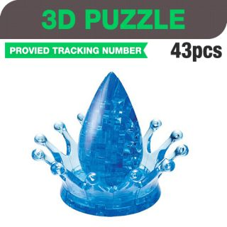 "Jeruel 3D Puzzle 43 Piece ""Water Crown"" Crystal"